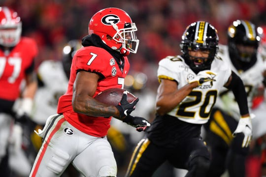 Georgia running back D'Andre Swift [piled up nearly 2,800 yards from scrimmage the past two seasons.