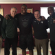 From left, Curtis Blackwell, Mark Dantonio. Daelin Hayes, Mike Tressel, and Harlon Barnett at Hayes' home taken in December 2015, according to a court affidavit.