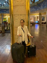 Holley Rauen awaits a bus that will take her to the Phnom Penh airport in Cambodia so she can return to Fort Myers after coronavirus derailed her cruise to southeast Asia.