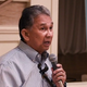 Guam airport Executive Manager Tom Ada talks about the effects that the coronavirus has had on the number of airline flights being entertained at the A.B. Won Pat International Airport during a briefing with stakeholders of the island's visitors industry on Feb. 18, 2020.