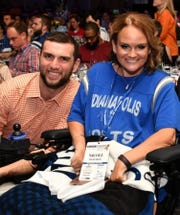 Nicole Richards with former Indianapolis Colts quarterback Andrew Luck.