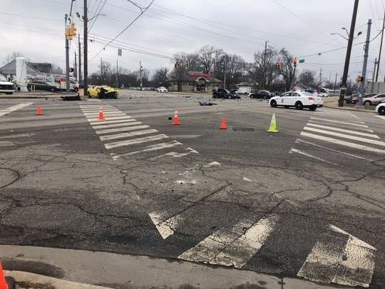 Police are investigating a fatal shooting and four-car crash at 30th and Lafayette.