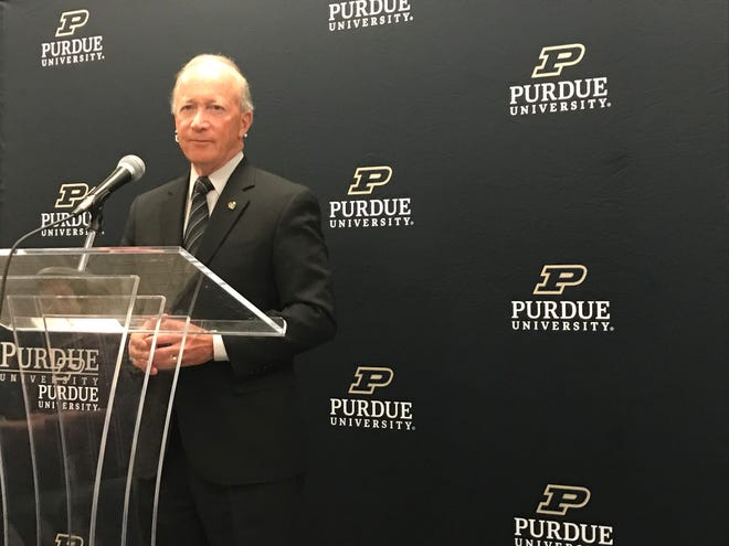 Purdue University President Mitch Daniels announced a new initiative called Purdue Fast Start on Tuesday at Purdue Polytechnic High School in downtown Indianapolis.