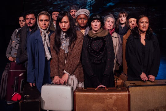 The Cast Of The New Colossus, at Hancher on Feb. 29.