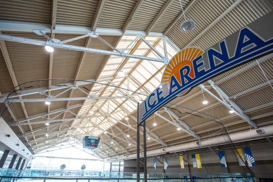 Coral Ridge Ice Arena, Tuesday, Feb. 18, 2020, at Coral Ridge Mall in Coralville, Iowa.