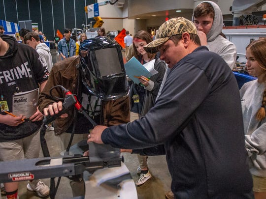 Thousands of high school students from around the Acadiana area explored potential job options and hands-on demonstrations at the 21st annual Career Connections expo at the Cajundome Convention Center Tuesday, Feb. 18, 2020.