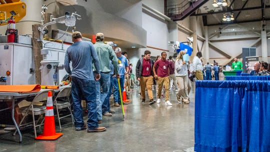 Thousands of high school students from around the Acadiana area explored potential job and higher education options at the 21st annual Career Connections expo at the Cajundome Convention Center Tuesday, Feb. 18, 2020.