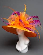 Wide brim Kentucky Derby hat from The Hat Girls 2020 collection.