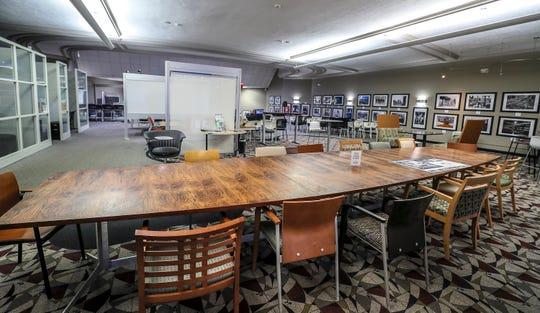 The main floor of Launch Louisville has modern workspaces, Feb 18, 2020.