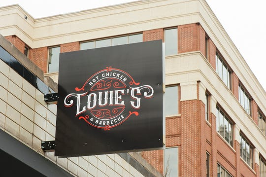 Louie's Hot Chicken & Barbecue Restaurant at 505 W. Broadway, just east of The Courier Journal building, is located in the former City Cafe. Behind the eatery, to the east is the Kindred Healthcare headquarters building.Feb. 17,  2020