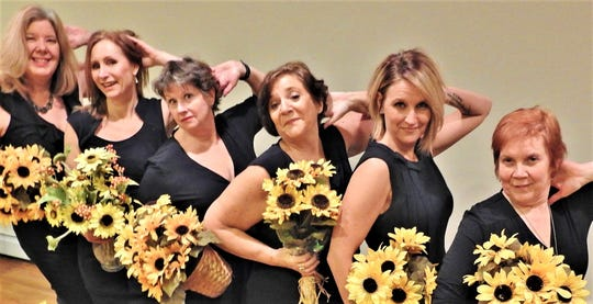 The six women of The Masquers' presentation of 'Calendar Girls.'