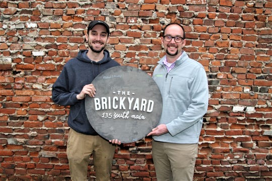 Entrepreneurs Alex Sheridan, left, and Luke Henry are ready to open The Brickyard on Main at 135 S. Main St. in downtown Marion. The event venue is scheduled to host a wedding show and open house from noon to 4 p.m. on Saturday, Feb. 22. Henry said 30 weddings are already booked at the venue this year. He noted that The Brickyard will offer other events, including live music and shows for kids.