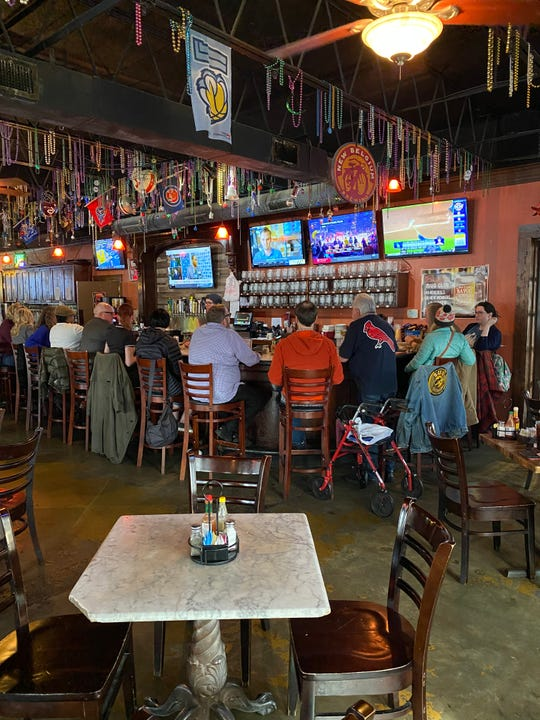 The bar at Bayou Bar and Grill in Overton Square.