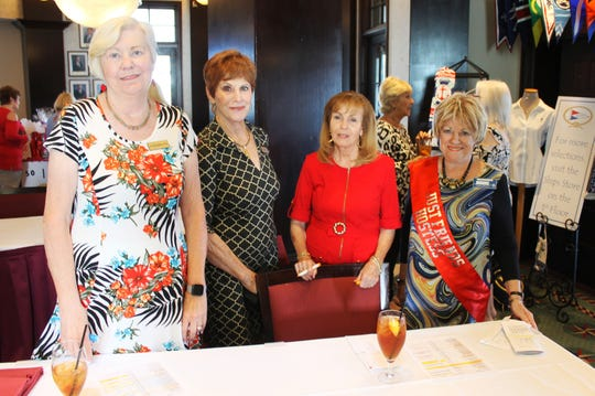 Hildie Kyes, Pam Clune, Sandi Friend and Pam Shudes at the February Just Friends meeting.