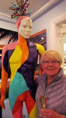 First time visitor Diane O'Neil posed with mascot Ken.