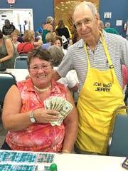 JCMI big winner Nicole Baker with Jerry Levin.