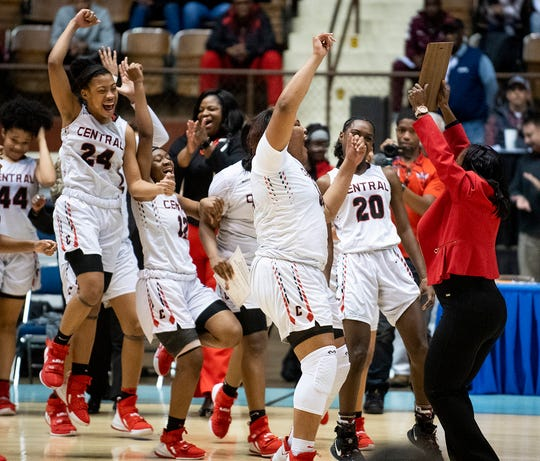 Central-Phenix City claims their regional championship after defeating Auburn in AHSAA regional basketball action in Montgomery, Ala., on Tuesday February 18, 2020.