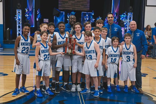 Lancaster Christian's middle school boys basketball team recently won the Tennessee Christian Athletic Association state title.