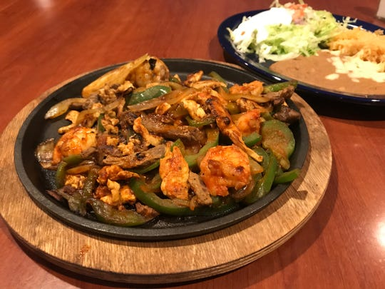 Jalisco fajitas from El Toro Bar and Grill include shrimp, steak and chicken.