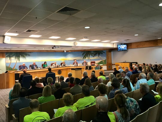 People fill the city council chambers at Naples City Hall for a public workshop about Gulf Shore Boulevard on Tuesday, Feb. 18, 2020.