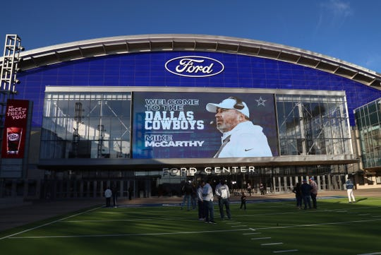 A general view of the Ford Center for the introduction of Dallas Cowboys head coach Mike McCarthy at the Star. Jan 8, 2020; Frisco, Texas, USA