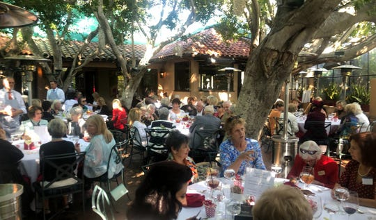 More than 150 ladies attended a sold-out lunch at Le Vallauris on Thursday, Feb. 13, 2020 to raise funds for Hidden Harvest.