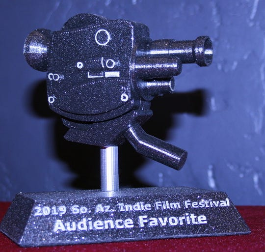 The winners of the Southern Arizona Independent Film Festival take home 3D-printed replicas of vintage 8 millimeter cameras as trophies.