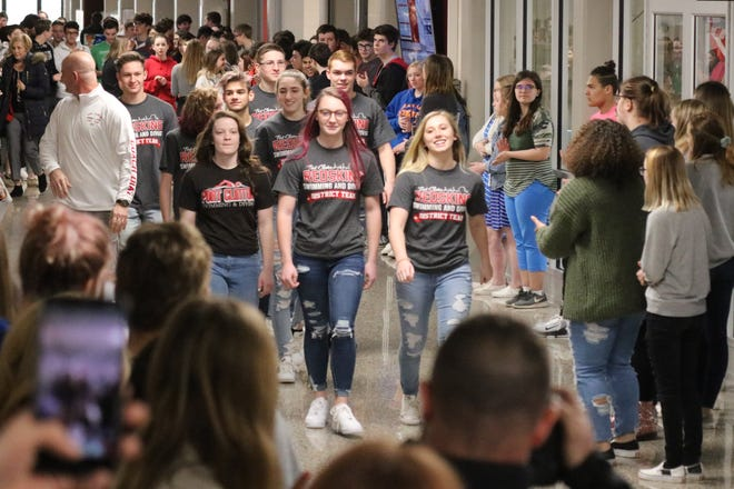 Port Clinton High School gave their swim and dive team a big sendoff on Tuesday as they head to Canton for the state championship tournament this week.