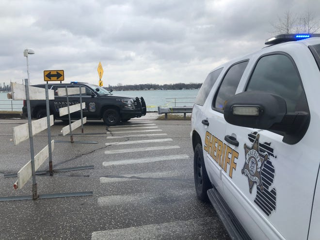 Divers located a vehicle in the St. Clair River in Marysville Tuesday morning.