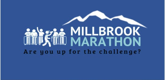 The logo for the upcoming Millbrook Marathon on June 7
