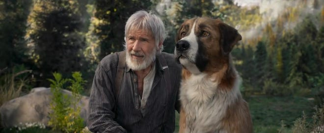 """Harrison Ford stars in """"Call of the Wild."""" The movie opens Thursday at Regal West Manchester."""