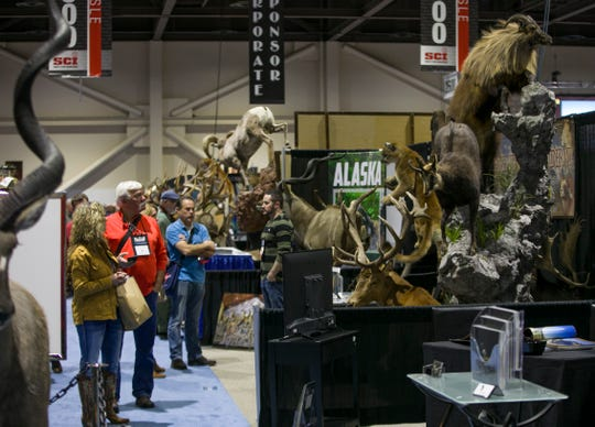 A photograph taken during the Safari Club International convention in Reno, Nev., Thursday, Feb. 6, 2020.