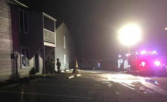 Crews responded to a two-alarm fire at an apartment building on Lancaster Drive Monday evening.