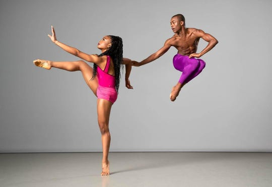 Ailey II will perform at 6:30 p.m. Feb. 20 at the historic Strand Theatre in Shreveport. The modern dance company is a part of the famed Alvin Ailey American Dance Theater. Pictured: Amarachi Valentina Korie and Kyle H. Martin.