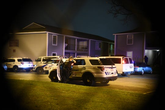 A suspect wanted in connection to a murder was injured in a police-involved shooting Monday, Feb. 17, 2020, when police went to serve a warrant.