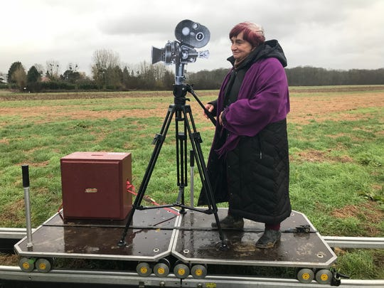 """Filmmaker Agnes Varda in """"Varda by Agnès."""" The film premiered at Berlin FIlm Festival in 2019, one month before her death."""