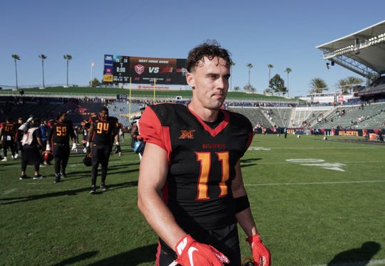 Los Angeles Wildcats wide receiver Nelson Spruce walks off the field after Sunday's XFL game against the Dallas Renegades at Dignity Health Sports Park. The Westlake High graduate is on his fourth professional football team in Southern California.