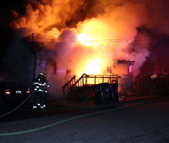 A fire burned through a home near Lake Secor in Mahopac Falls on Feb. 18, 2020.
