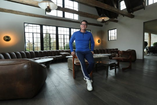 Owner Michael Bruno photographed in the lobby area of The Valley Rock Inn in Sloatsburg on Tuesday, February 18, 2020.