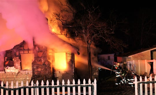 A fire burned through a home on Oak Road West in Mahopac Falls on Feb. 18, 2020.