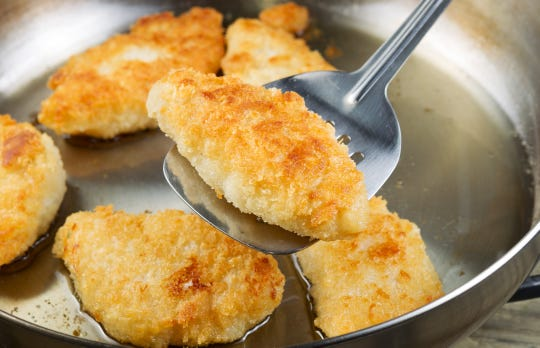 Golden breaded fish is on the menu at Friday fish fries offered at many area churches during Lent.