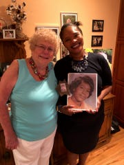 DelawareanTheadousia Jenkins received Kevin's heart and lungs, one of the first in the U.S. The first successful transplant procedure had only been achieved in 1981.  Almost 40 years later,Theadousia's daughter Tonyastill keeps in touch with Othell, who is pictured here holding a photo of her mother.