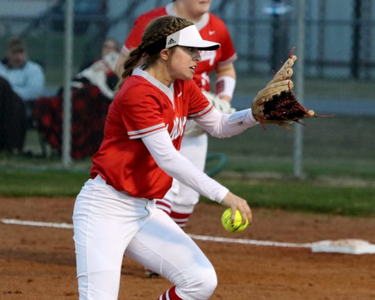 Holliday's Marshal Gillit pitches against Burkburnett Monday, Feb. 17, 2020 in Burkburnett.