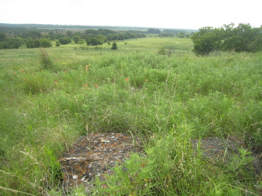 In this file photo, grassy prairie land is seen at the site of a proposed 17,280 acre-foot lake. The future Lake Ringgold is expected to cost at least $443 million.
