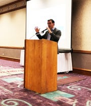 Since his election to Congress in 2016, Rep. Mike Gallagher (R-Green Bay), has taken a keen interest in improving water quality in the area. The congressman was a speaker at the 5th annual Fox Watershed Farmer roundtable at Liberty Hall, Kimberly.
