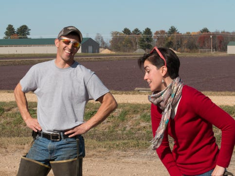 UW–Madison's Amaya Atucha, right, and Juan Zalapa, both in the Department of Horticulture, will lend their expertise in helping to improve the quality of cranberries and blueberries.