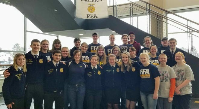 The Baraboo FFA recently hosted a community pancake breakfast to show their support for farmers. Pancake breakfasts, along with school pep rallies, Ag Olympics, donkey basketball, dress-up days, and guest speakers are a just a few of the events FFA chapters across the state are bringing to life this week to celebrate National FFA Week.
