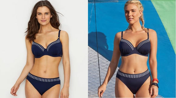 These sporty, classic bikinis and one-piece swimsuits are a vacation must-have.