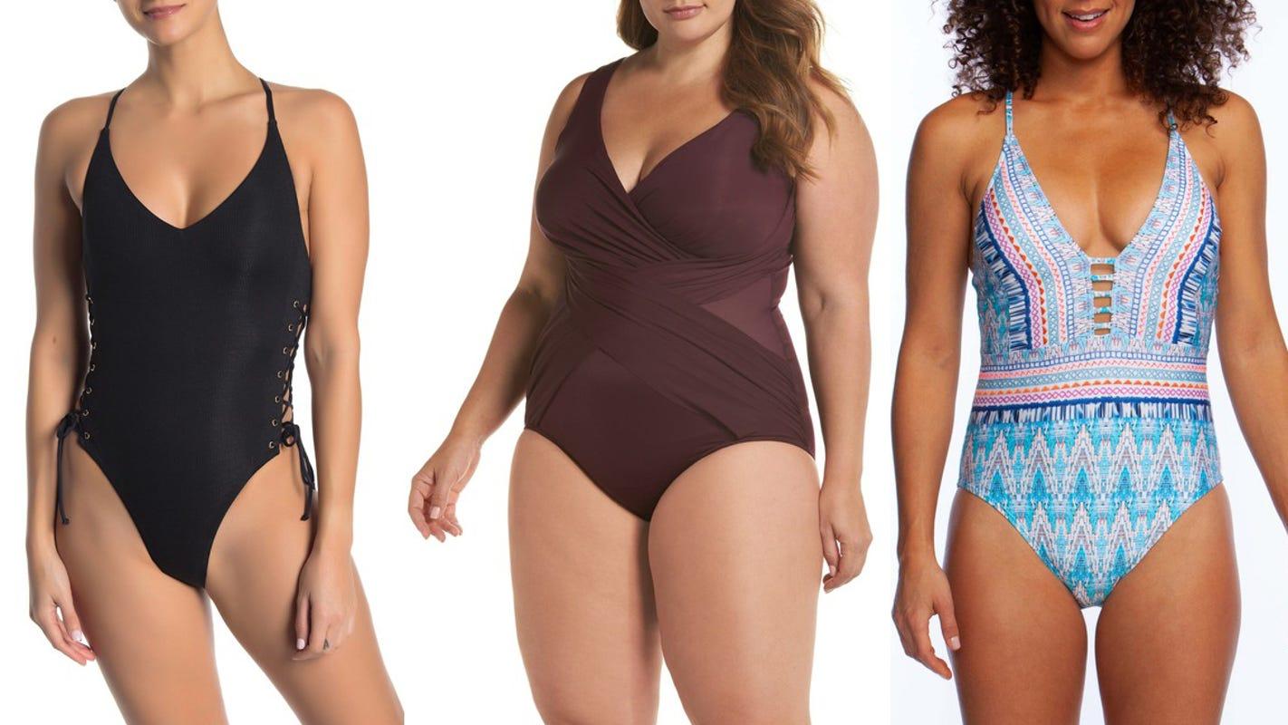 Designer swimwear for one piece