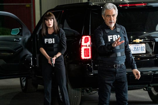 Long-time 'Criminal Minds' stars Paget Brewster, left, and Joe Mantegna are back at work in Wednesday's series finale.